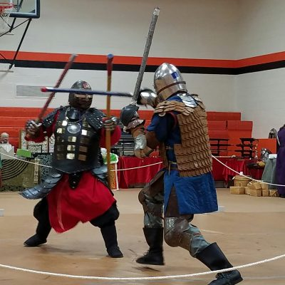 Two heavy fighters during a tourney